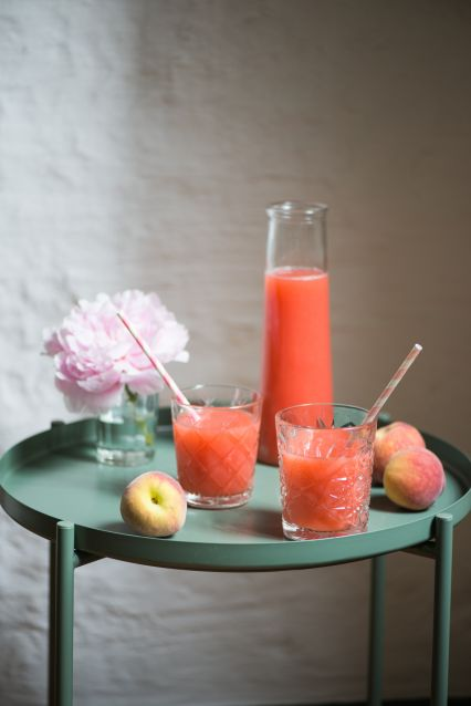 Himbeer-Pfirsich-Limonade