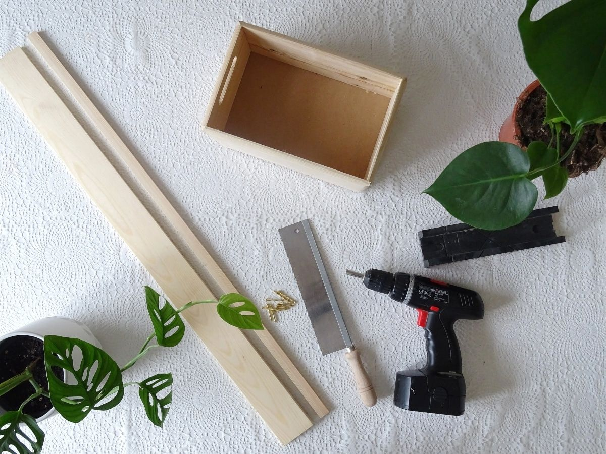 DIY indoor Blumenkasten