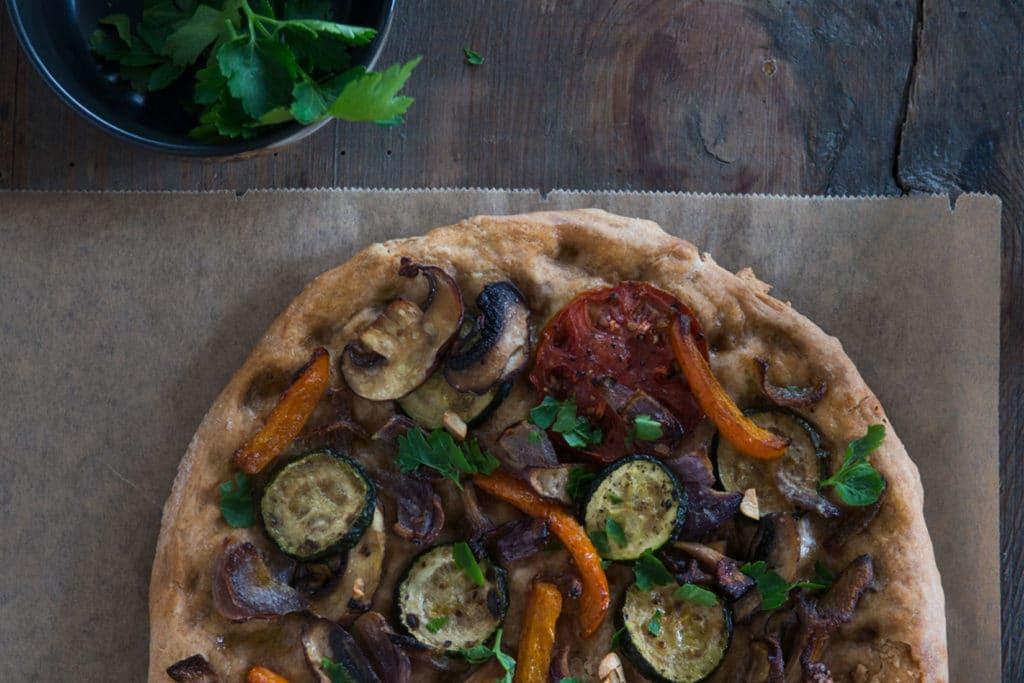Gemüse Focaccia Rezept