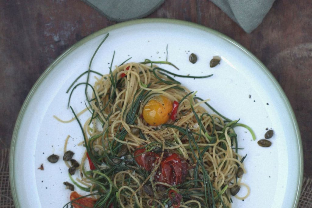 Rezept für Mönchsbart Spaghettini