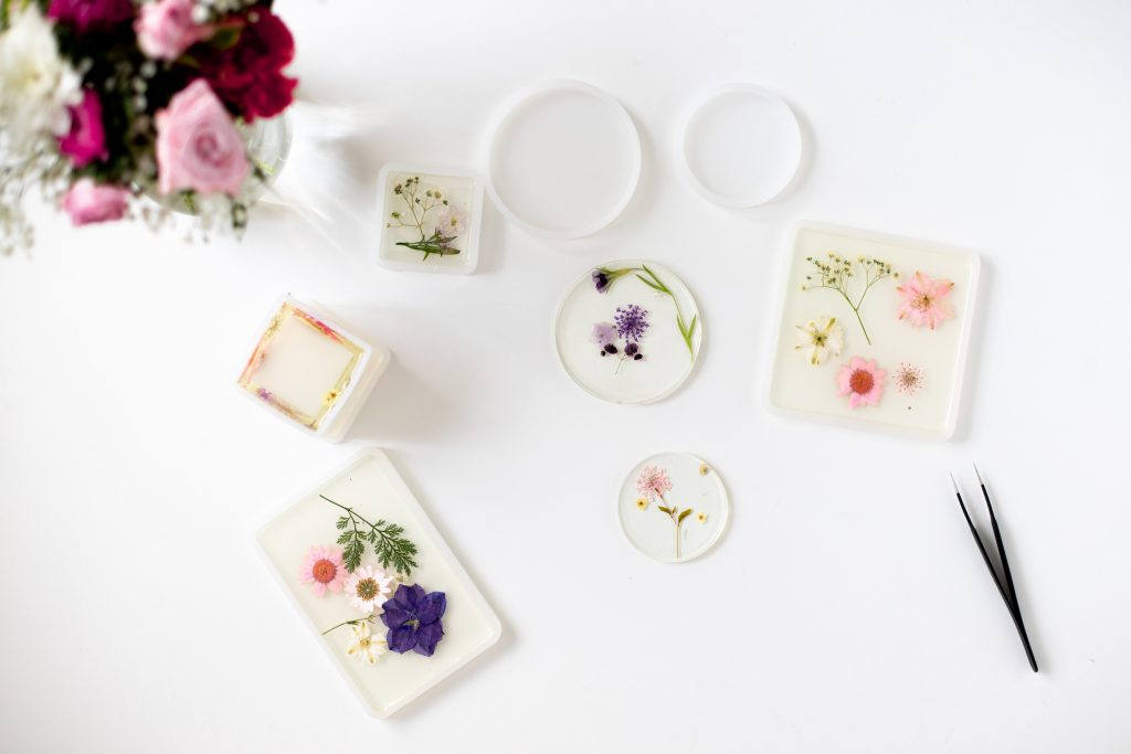 DIY Trockenblumen-Untersetzer