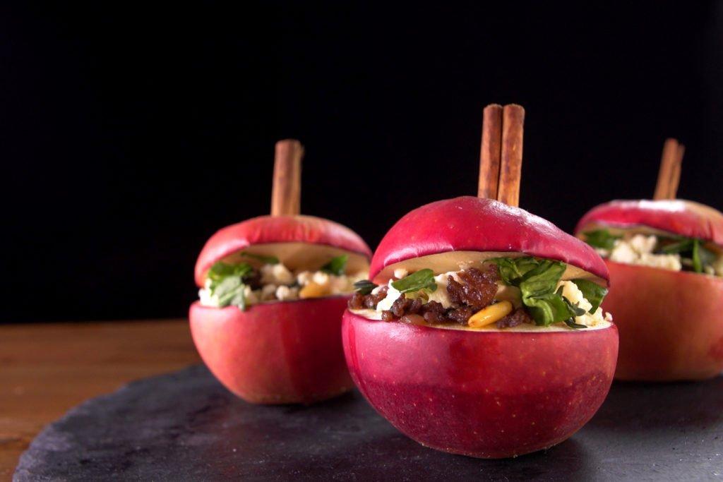 Orientalische Bratäpfel mit Hackfleisch