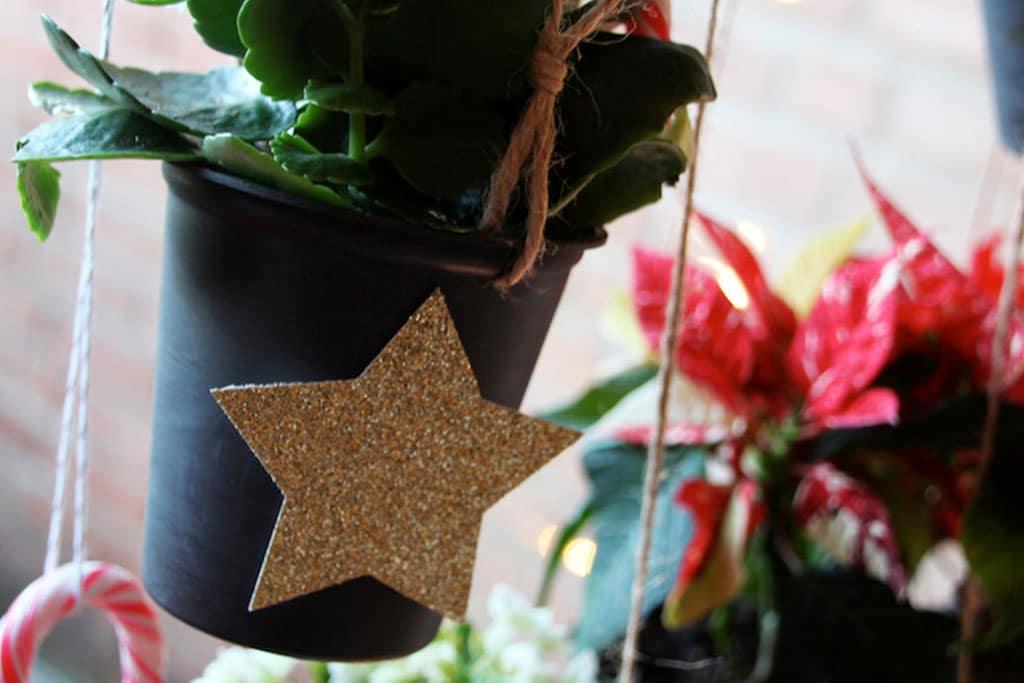 DIY Upcycling Blumenampel zu Weihnachten