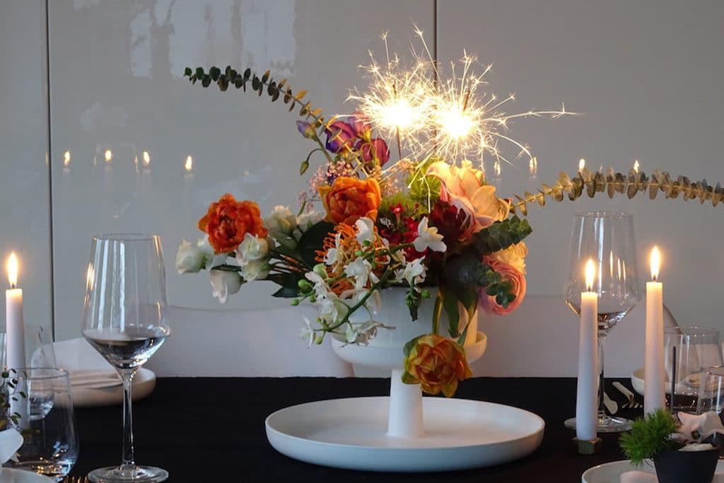 Florales Feuerwerk für Silvester