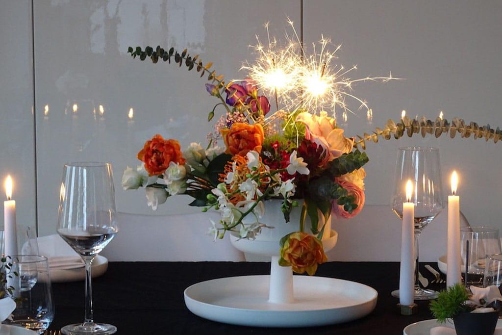 DIY Blumen Feuerwerk für Silvester