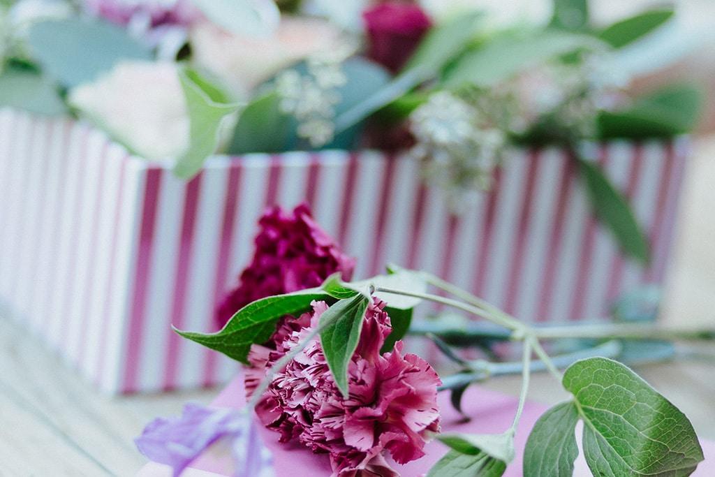 DIY Blumenbox zum Valentinstag