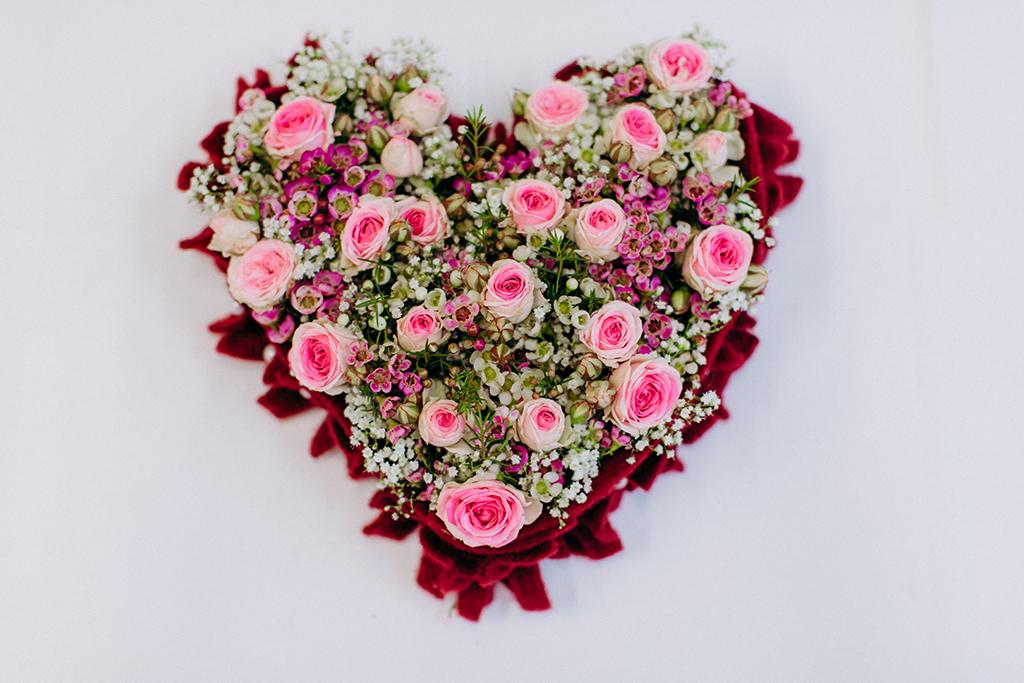 DIY Blumen Herz für Mama