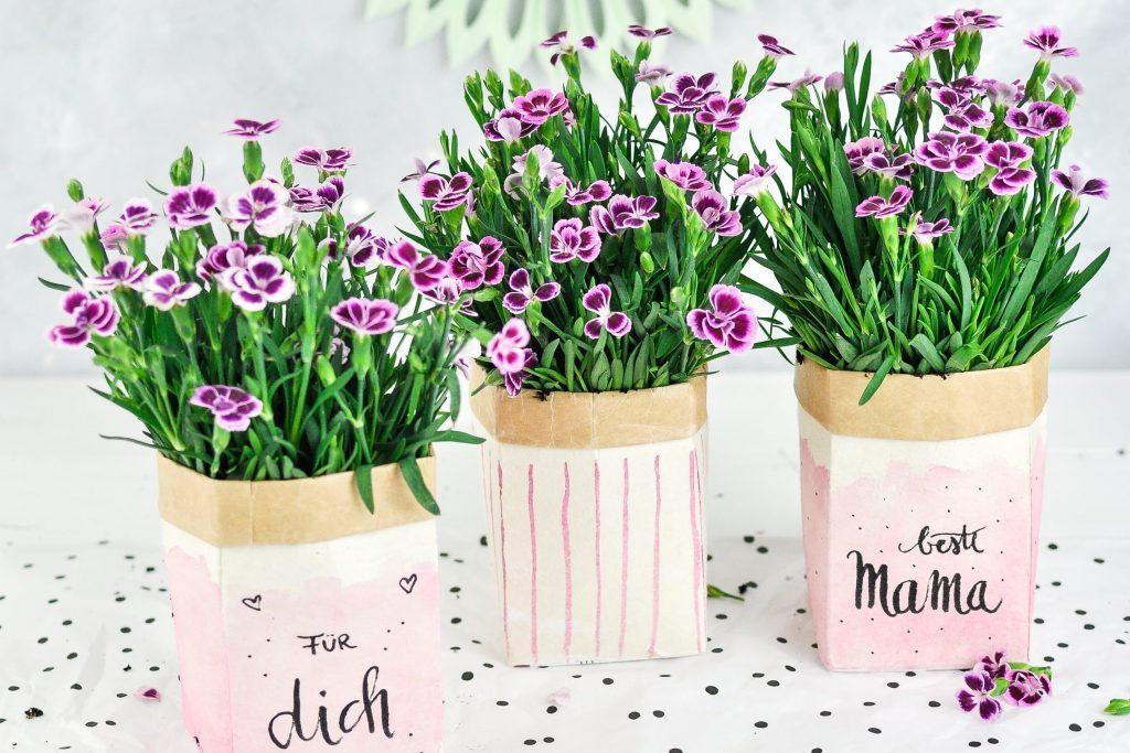 DIY Milchtüten Blumentöpfe zum Muttertag
