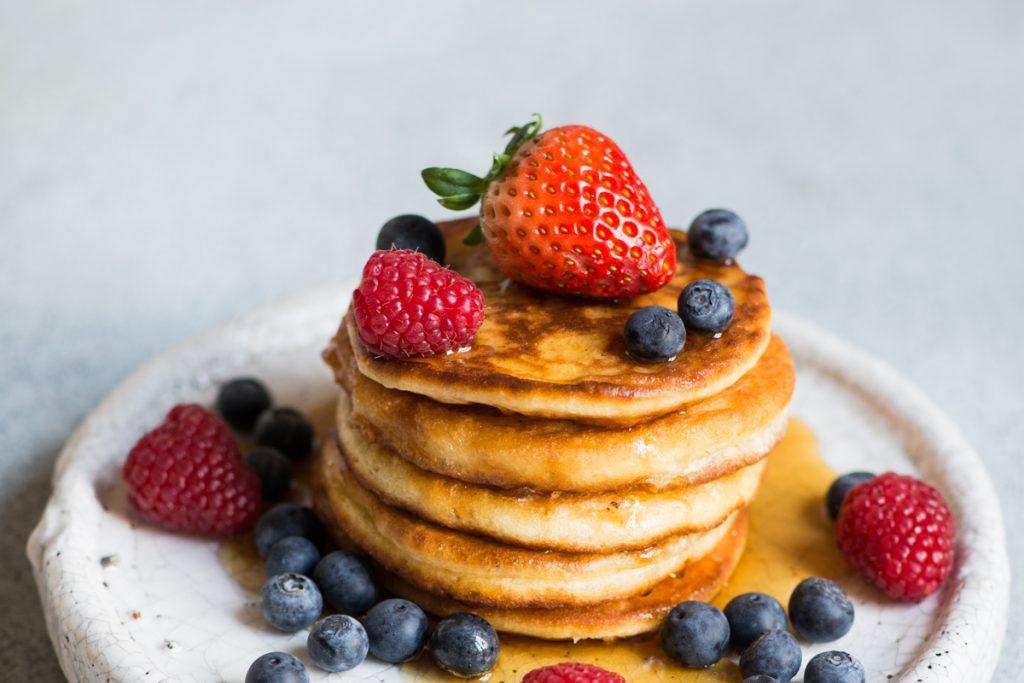 Fluffige Pancakes ohne Zucker