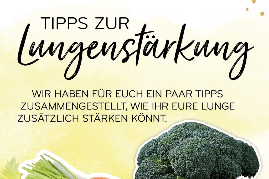 Obst und Gemüse zur Lungenstärkung