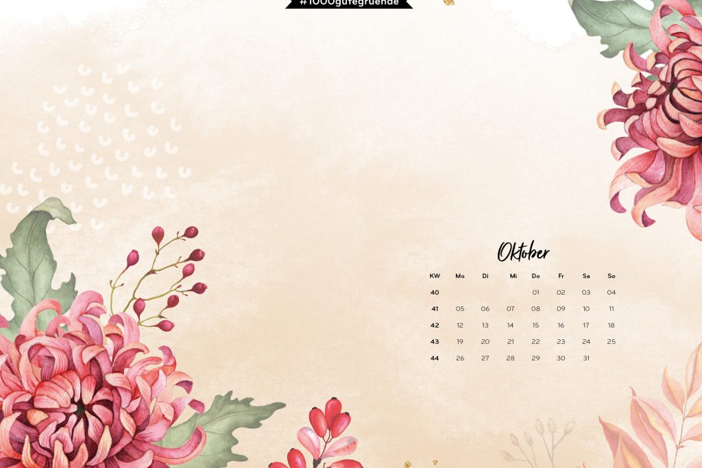 Free Desktop Wallpaper Oktober 2020
