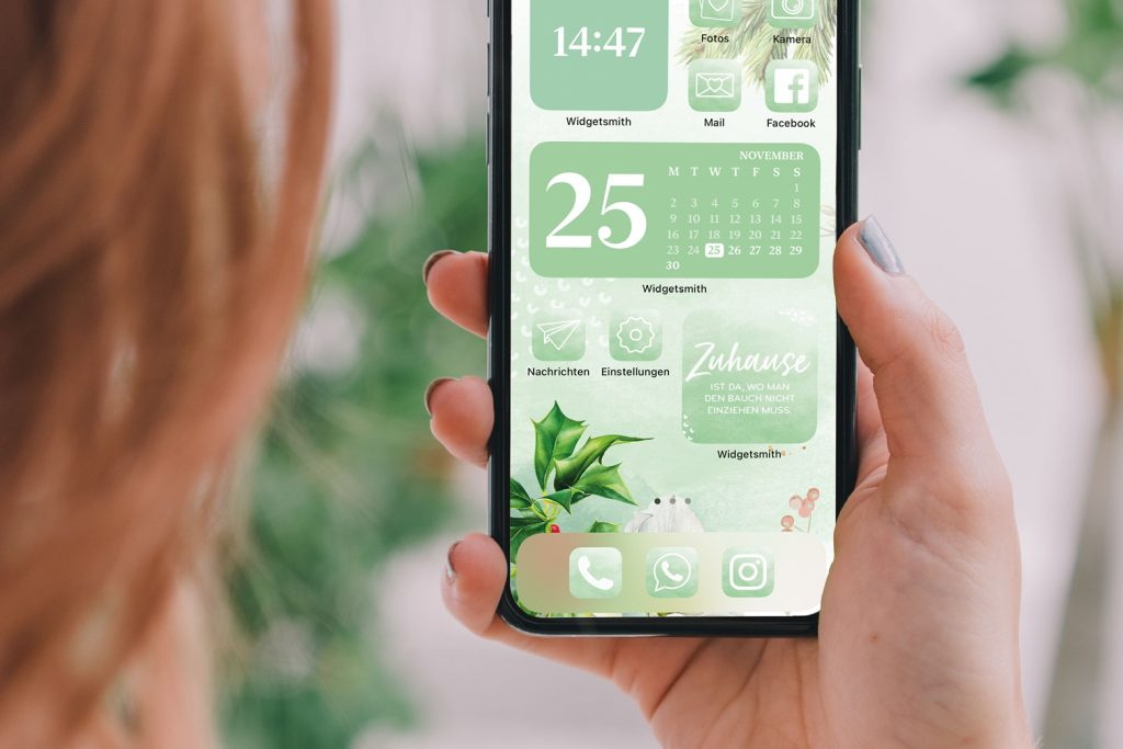 iPhone Widgets im weihnachtlichen Stil