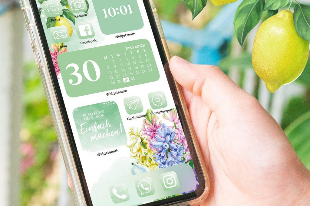 iPhone Widgets im frischen Look