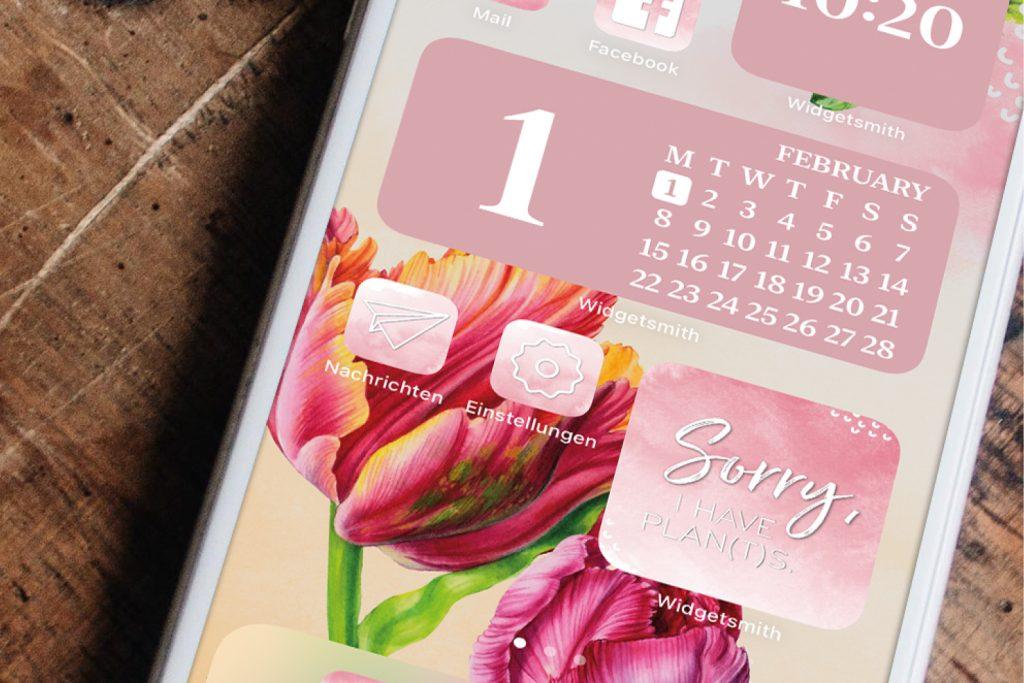 iPhone Widgets Februar