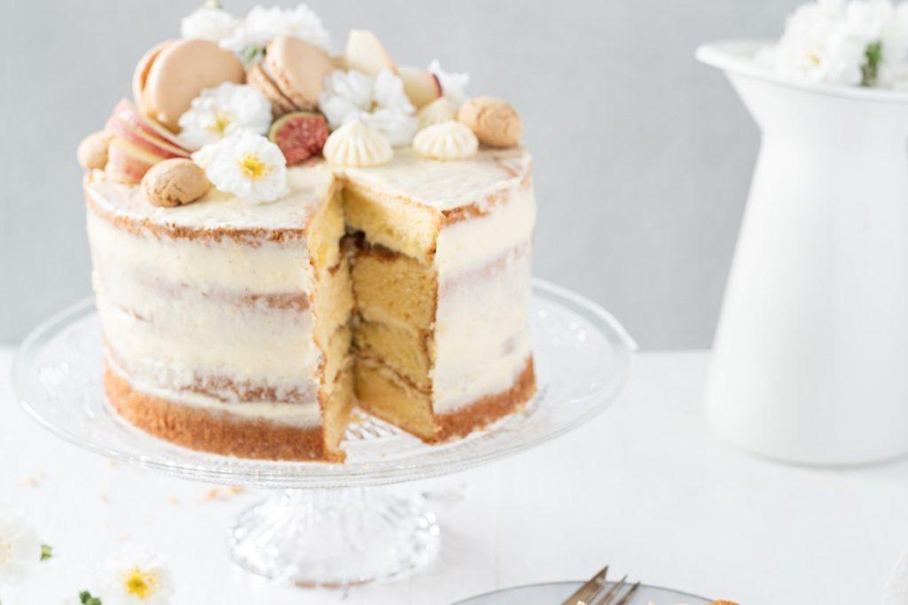 Pfirsich Naked Cake