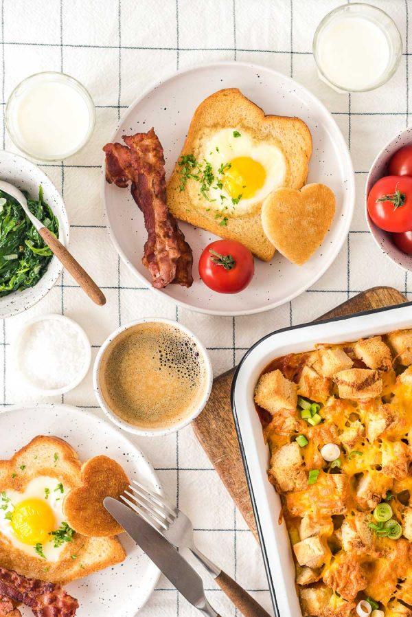 Vatertag Breakfast Casserolle und Toast-15